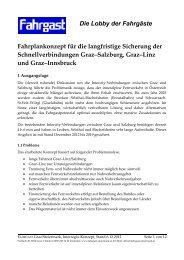 Die Lobby der Fahrgäste - FAHRGAST Steiermark