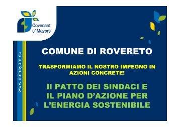 Documentazione PAES Comune Rovereto - Confindustria Trento