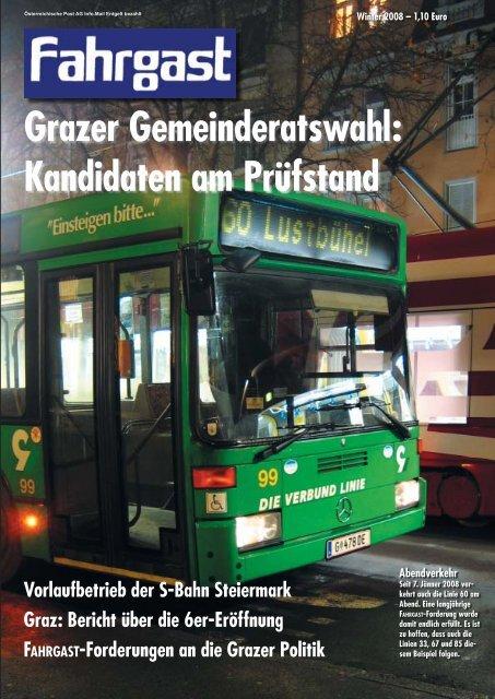 Grazer Gemeinderatswahl - FAHRGAST Steiermark