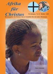 Nr. 10. Oktober - bei den Missionsschwestern des hl. Petrus Claver