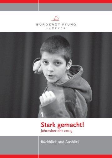 Jahresbericht 2005/06 - BürgerStiftung Hamburg