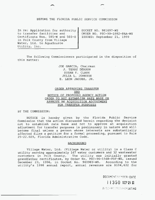 Application for authority Certificate Nos  585-W and 503-S