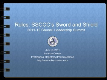 PowerPoint Slides - Survival Tips on Roberts Rules of Order