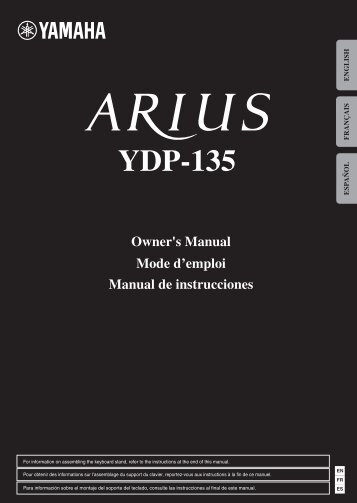 YDP-135 Owner's Manual