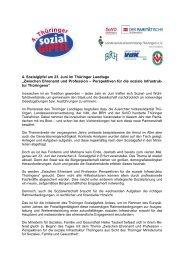 gemeinsamen Erklärung - Thüringer Landtag