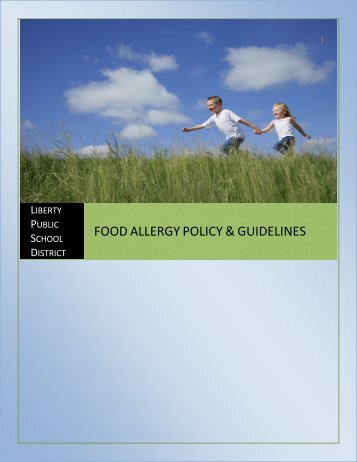 food allergy policy & guidelines - School Nutrition Association
