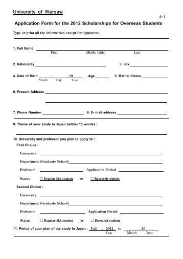 Student Scholarship Scheme Part 1 - Student Application Form