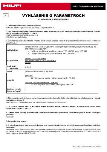 Súbor Adobe Acrobat (.pdf) 0.31 MB SK - Hilti