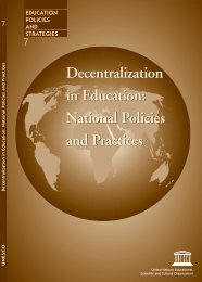 Decentralization in education: national policies and practices - paddle