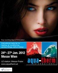 24th- 27th Jan. 2012 Messe Wien - Aquatherm Vienna 2014