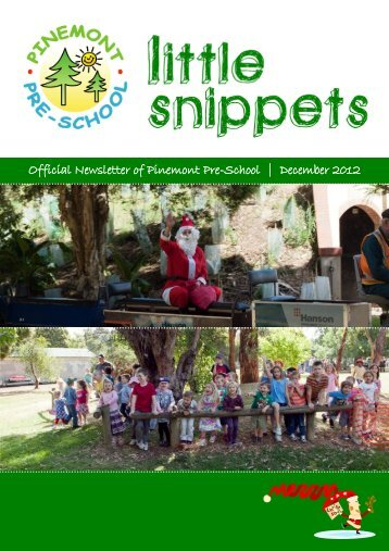 December Newsletter - Pinemont PreSchool