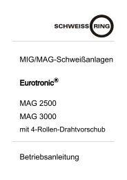 MIG/MAG-Schweißanlagen MAG 2500 MAG 3000 ... - Reiz GmbH