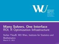 ROI - Institute for Statistics and Mathematics - Wirtschaftsuniversität ...