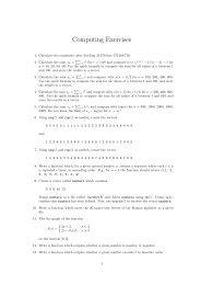 Computing Exercises