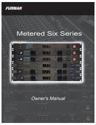 metered six manual - Furman Sound