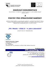 ZADÁVACÍ DOKUMENTACE A POKYNY PRO ... - Fondy EU v Praze