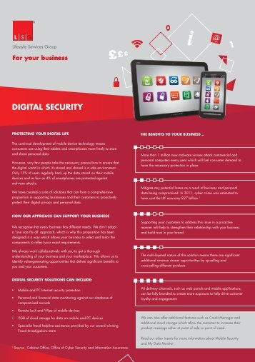 DIGITAL SECURITY - Lifestyle Services Group Ltd