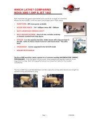 which lathe? comparing nova 3000 1.5hp & jet 1442 - Teknatool