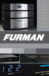For product questions or to locate your local ... - Furman Sound