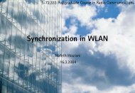 Synchronization in WLAN
