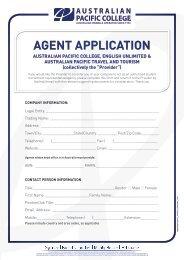 agent enquiry form - Australian Pacific College
