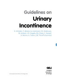 guidelines on urinary Incontinence - European Association of Urology