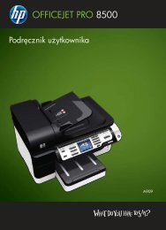HP Officejet Pro 8500 Printer series User Guide - Centrum Druku