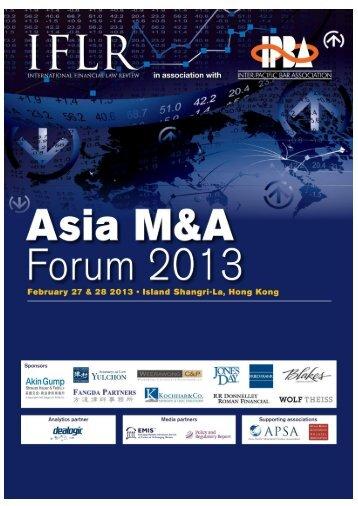 IFLR Asia M&A Forum 2013 - IFLR.com