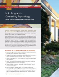 M.A. Program in Counseling Psychology - Pacifica Graduate Institute
