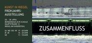ZUSAMMENFLUSS FLYER .indd - Kunst in Riegel am Kaiserstuhl