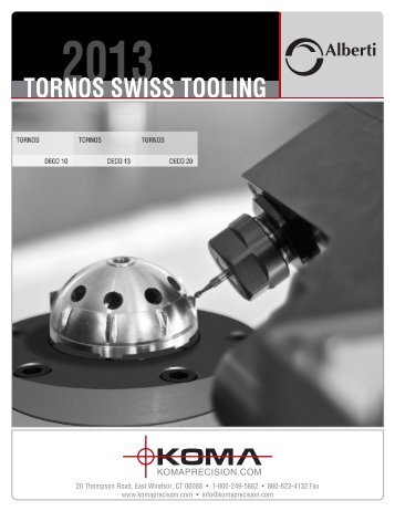 TORNOS SWISS TOOLING - Koma Precision, Inc.