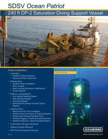SDSV Ocean Patriot - Oceaneering
