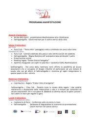 PROGRAMMA MANIFESTAZIONE - Vivere Senigallia