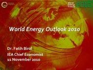 World Energy Outlook 2010 - World Energy Council