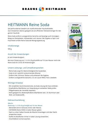 HEITMANN Reine Soda - Brauns-Heitmann