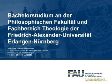 Aufbau des Studiums - Philosophische Fakultät - Friedrich ...