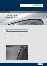 Leštění autolaků (silně zvětralých) - PK Festool