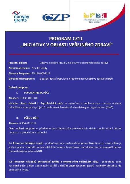 Program Zahajovací konference - Neziskovky