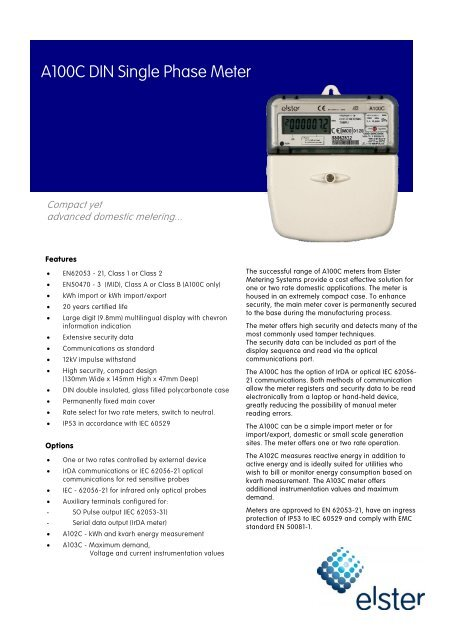 Download Pdf Elster Metering