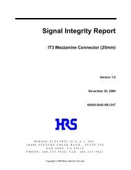 Signal Integrity Report IT3 Mezzanine Connector - HIROSE USA