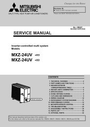 SERVICE MANUAL MXZ-32SV - MXZ-32SV - E2 - Mitsubishi Electric