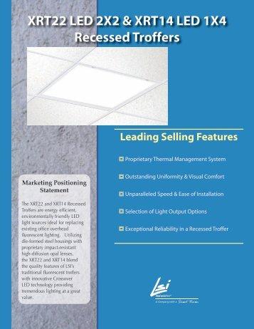 XRT22 LED 2X2 & XRT14 LED 1X4 Recessed ... - LSI Industries Inc.