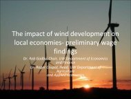 The impact of wind development on local economies ... - Wind Watch