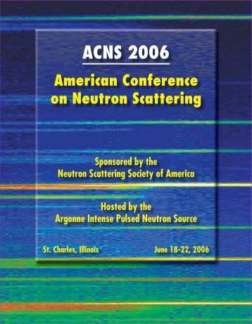 ACNS 2006 - Caltech Center for Advanced Computing Research