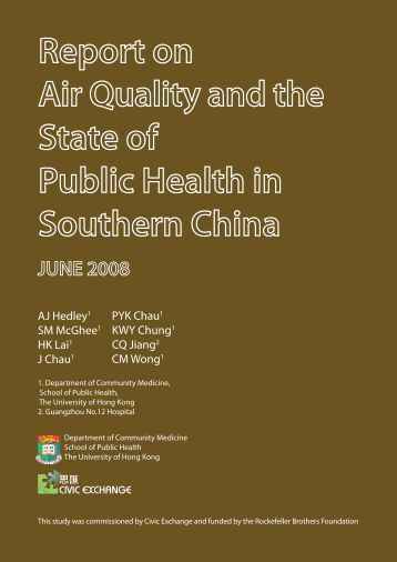 Report on the Air Quality on the State of Public Health in Southern ...