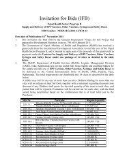 Invitation for Bids (IFB) - Logistics Management Division