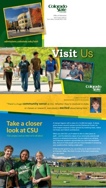 Visit Us - Admissions - Colorado State University