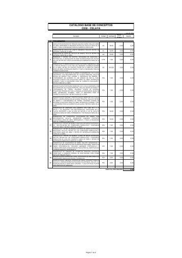 Catálogo de Conceptos Base-Celaya1 - Infonavit