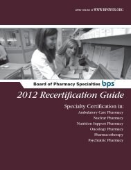 BPS recertification - APhA Annual Meeting & Exposition