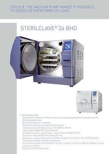 STERILCLAVE® 24 BHD - PROFI - dental equipment